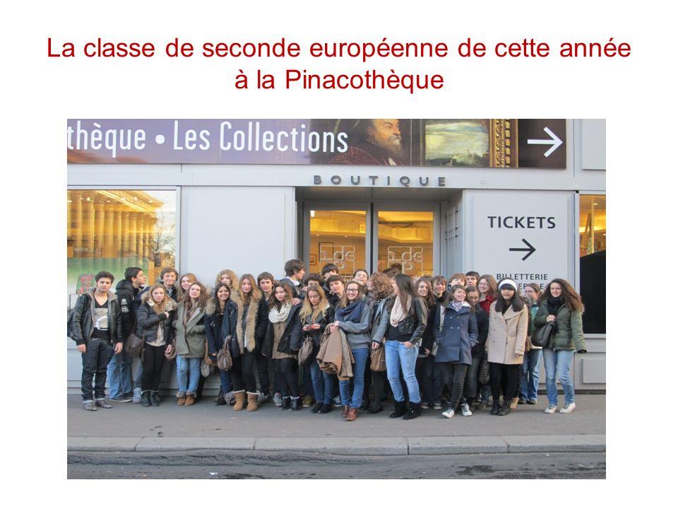 La classe de seconde européenne de cette année à la Pinacothèque