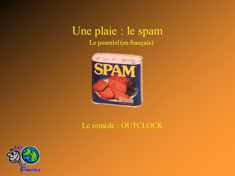 Une plaie : le spam Le pourriel (en français) Le remède : OUTCLOCK