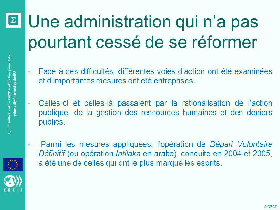 © OECD A joint initiative of the OECD and the European Union, principally financed by the EU Une administration qui na pas pourtant cessé de se réform