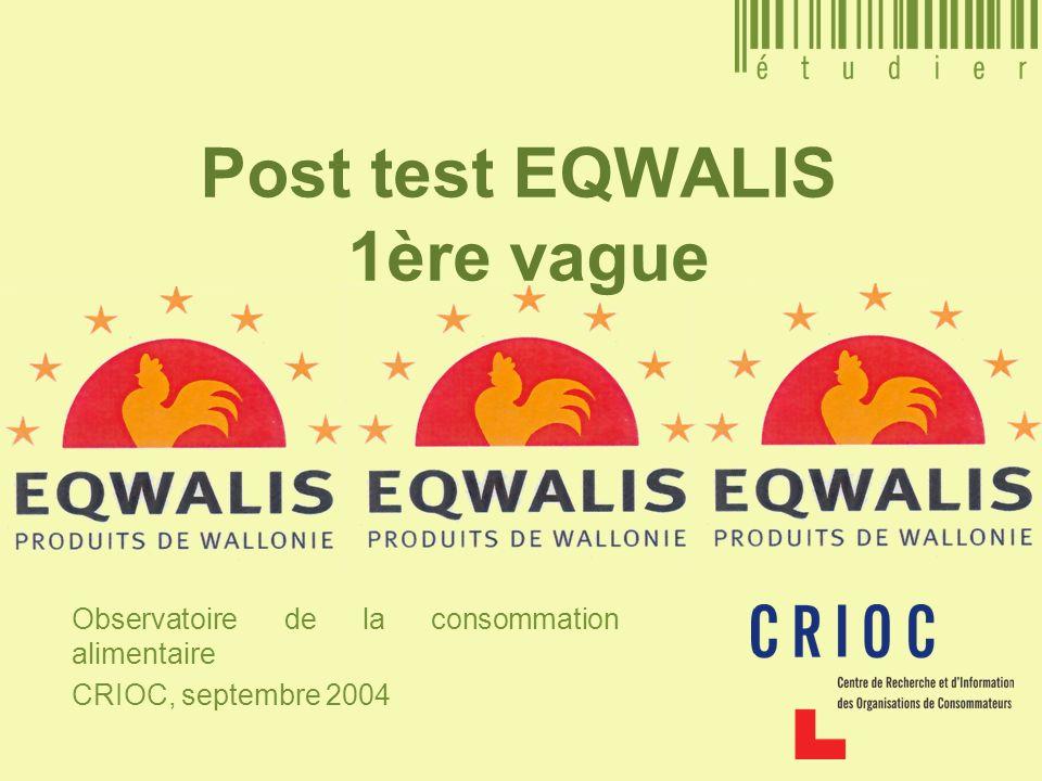 Post test EQWALIS 1ère vague Observatoire de la consommation alimentaire CRIOC, septembre 2004