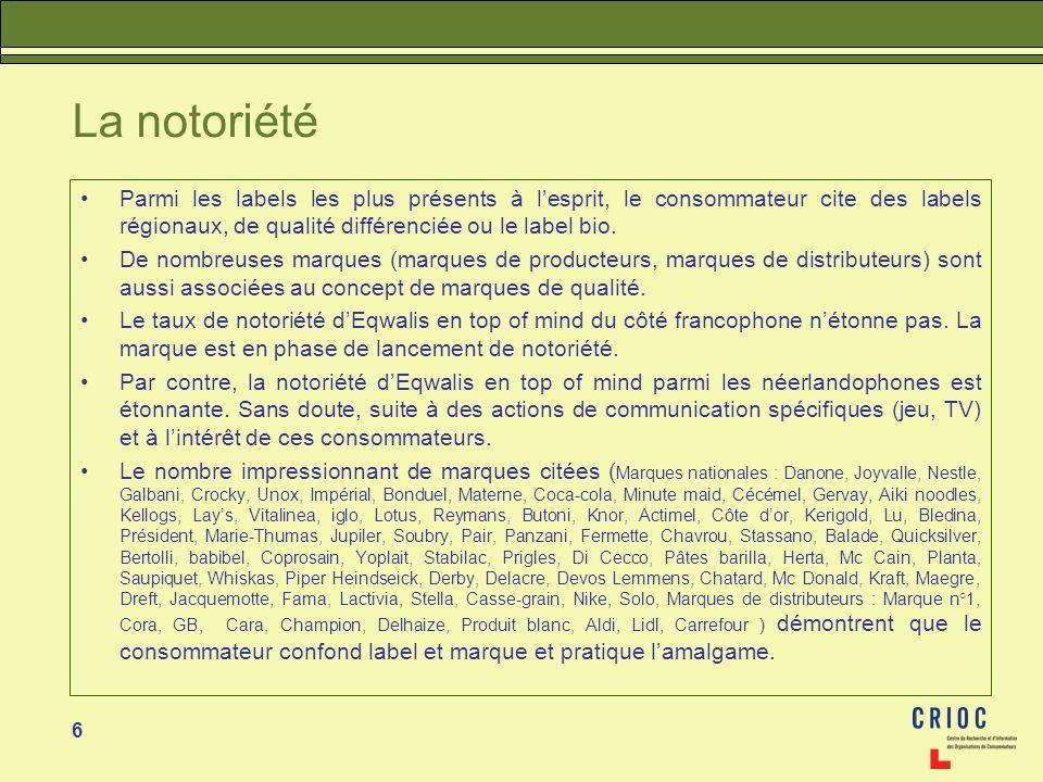 57 Éditeur Responsable : Marc Vandercammen CRIOC Rue des Chevaliers 18 - 1050 BRUXELLES Tél.