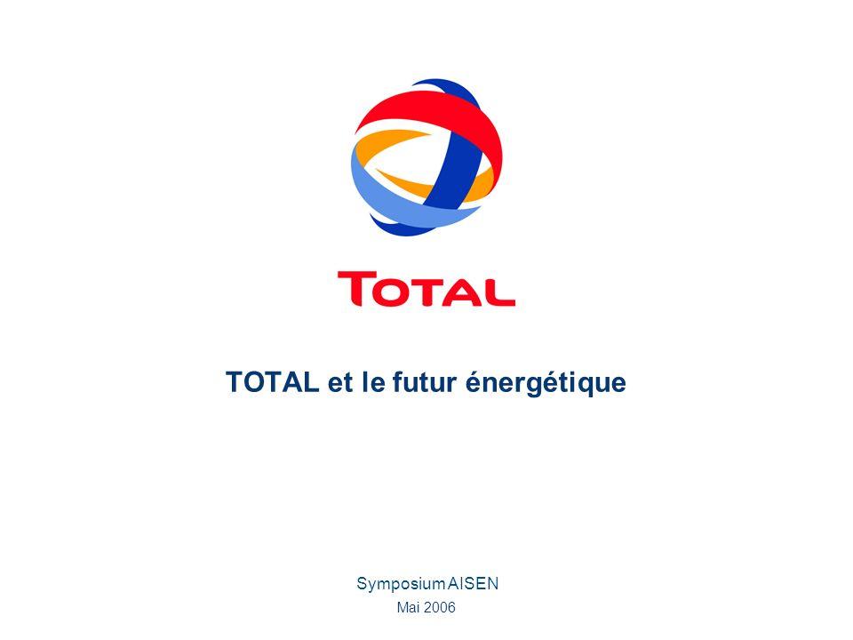 Symposium AISEN Mai 2006 TOTAL et le futur énergétique