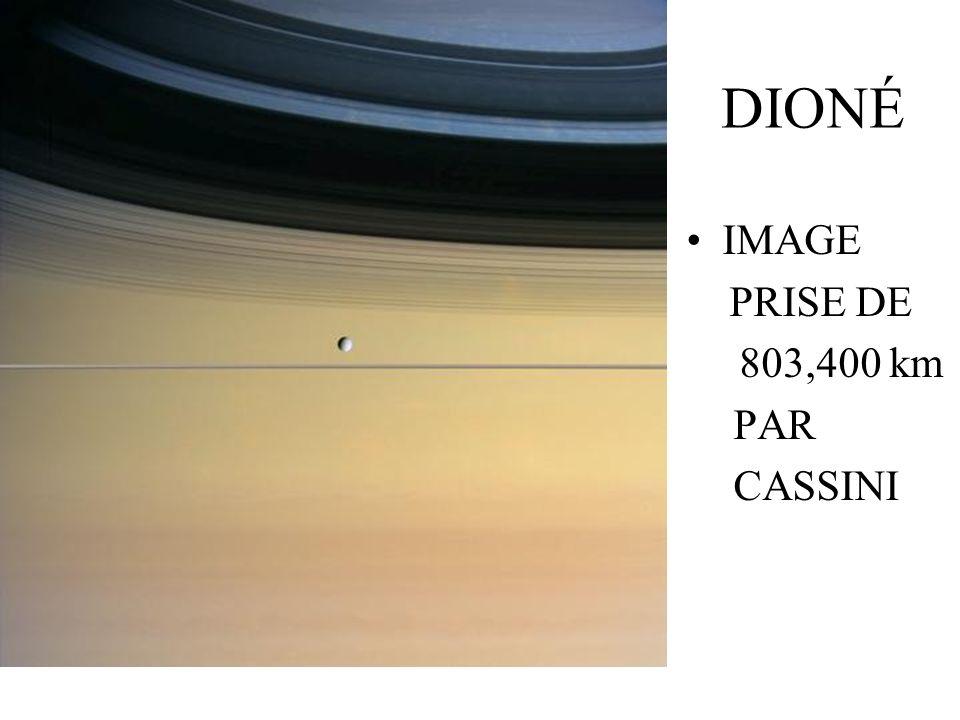 DIONÉ IMAGE PRISE DE 803,400 km PAR CASSINI