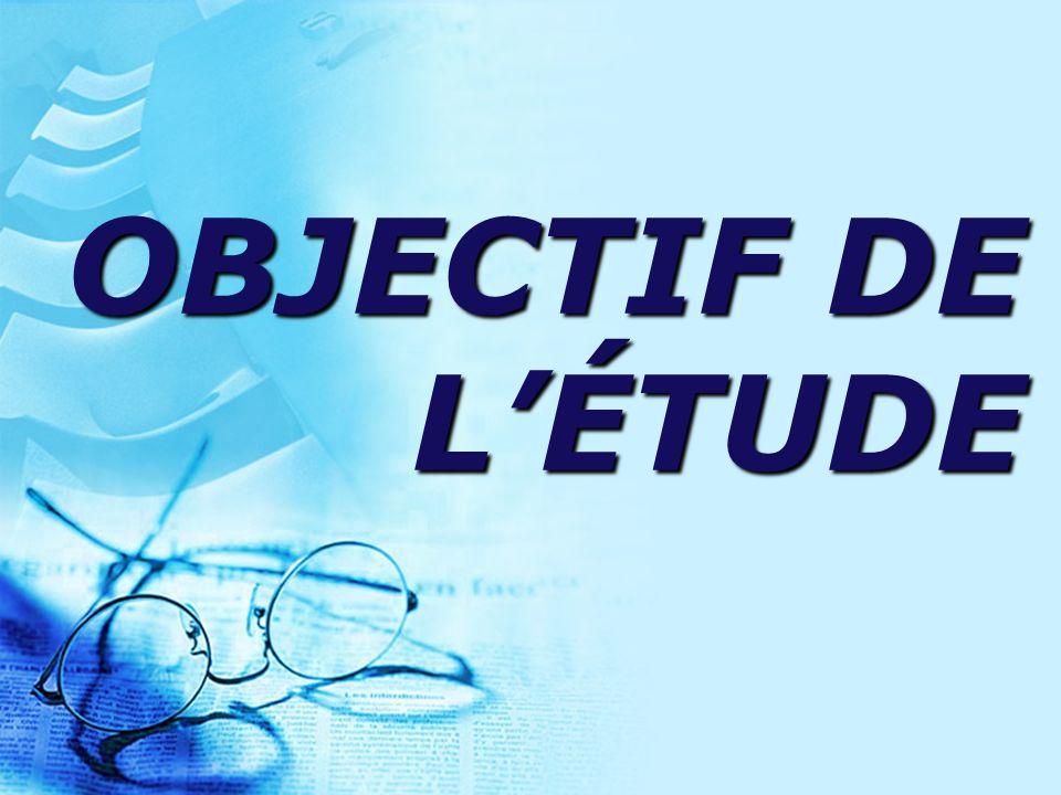 OBJECTIF DE LÉTUDE