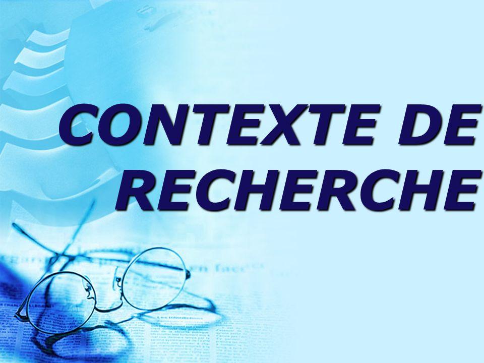 CONTEXTE DE RECHERCHE