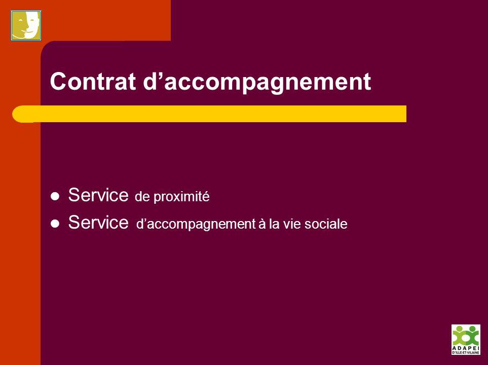 Contrat daccompagnement Service de proximité Service daccompagnement à la vie sociale