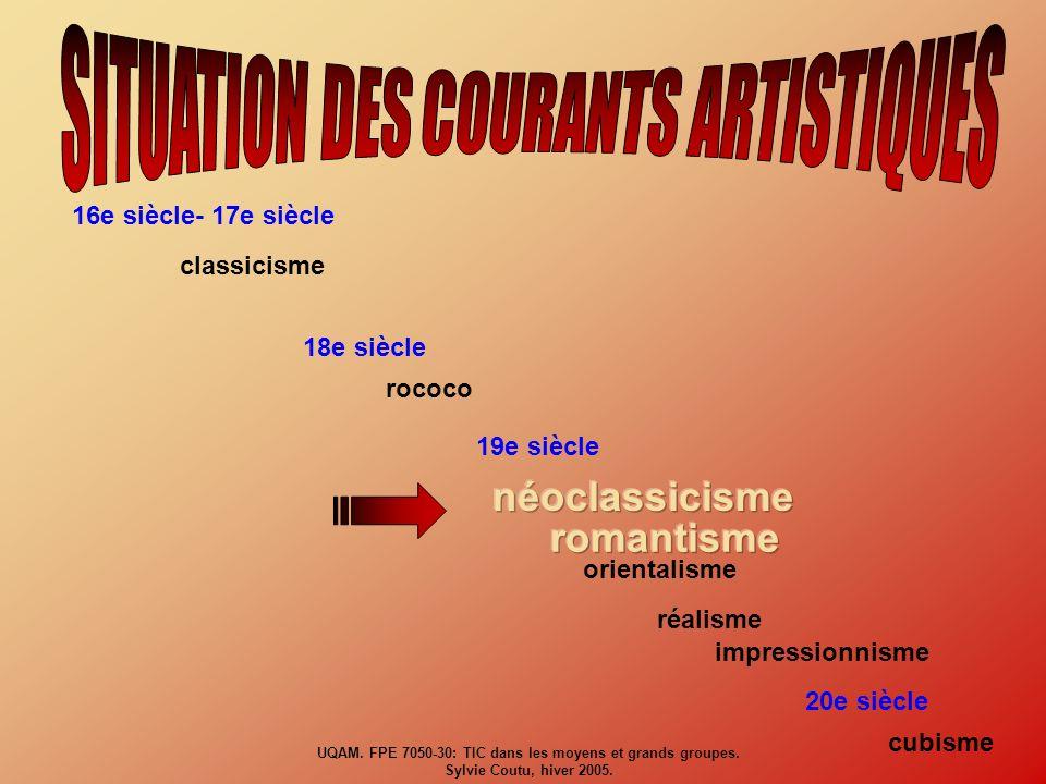 UQAM. FPE 7050-30: TIC dans les moyens et grands groupes. Sylvie Coutu, hiver 2005.