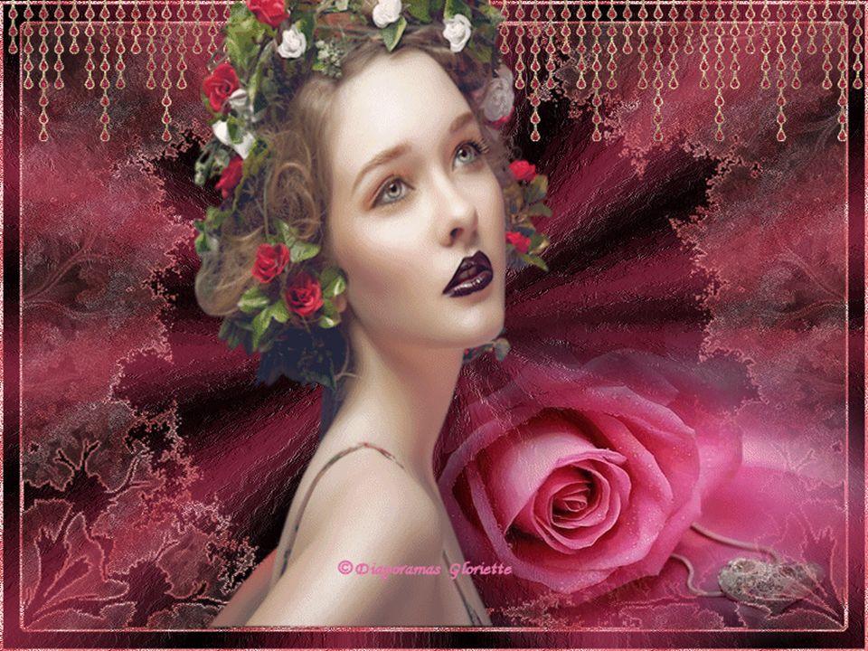 Tu mas donné de belles roses Et moi je te donne mon cœur. En cette journée de grand bonheur Jai mis des fleurs dans mes cheveux et sur moi, Ton regard