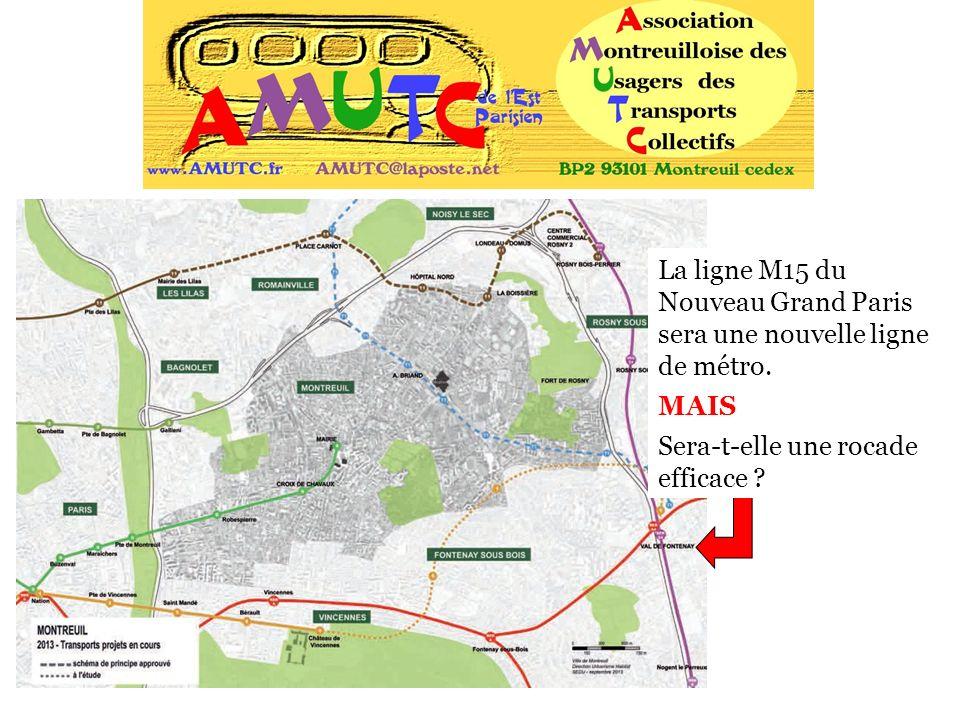 La ligne M15 du Nouveau Grand Paris sera une nouvelle ligne de métro. MAIS Sera-t-elle une rocade efficace ?