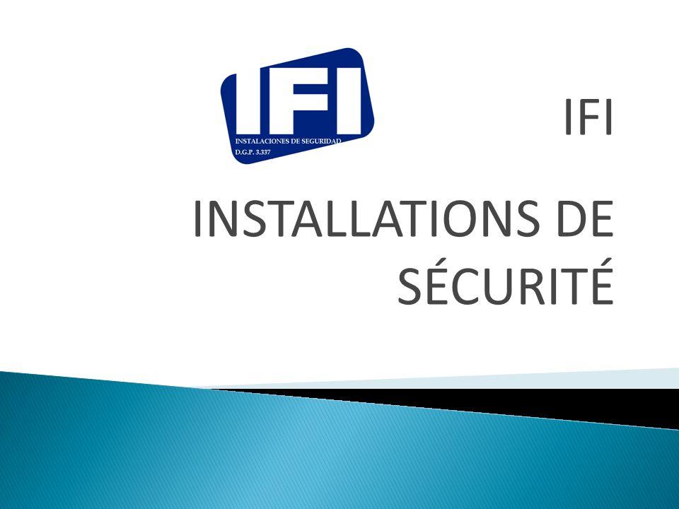 IFI est un société espagnole de installations de sécurité avec expérience dans tous les types de projet de systèmes de sécurité.