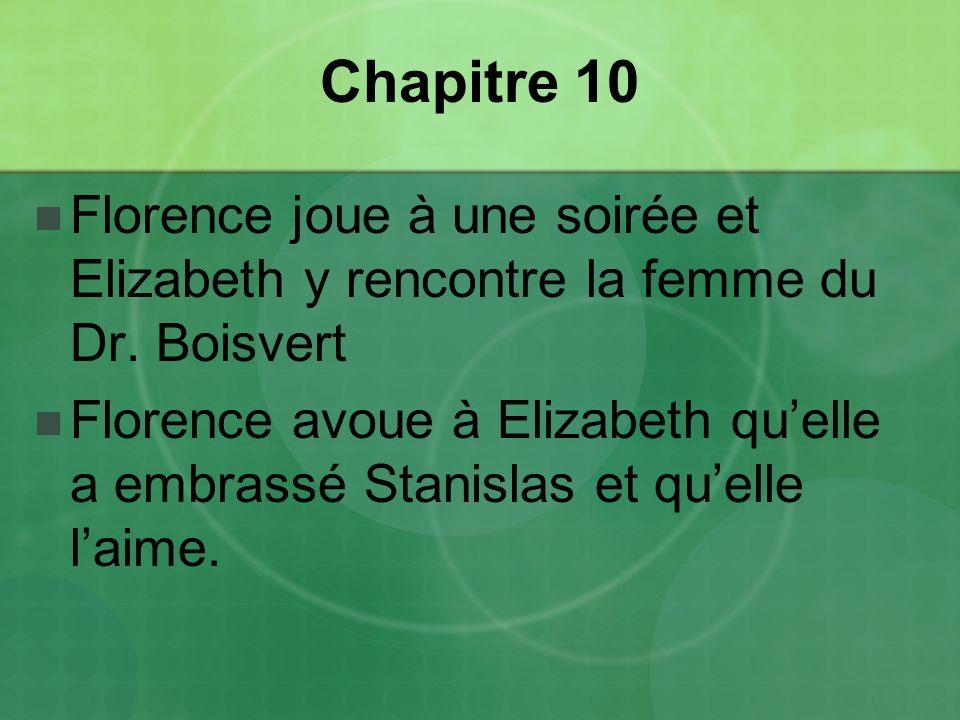 Chapitre 10 Florence joue à une soirée et Elizabeth y rencontre la femme du Dr.