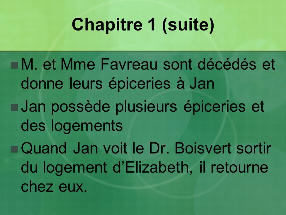 Chapitre 16 Stanislas passe du temps avec Florence avant de quitter pour le Manitoba encore une fois.