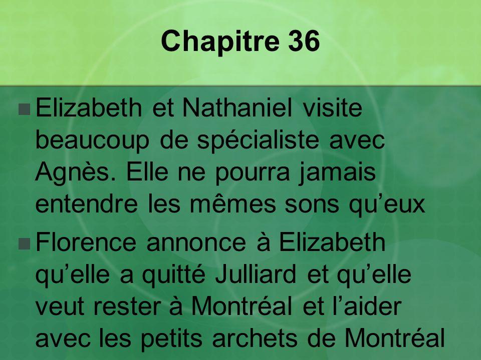 Chapitre 36 Elizabeth et Nathaniel visite beaucoup de spécialiste avec Agnès.