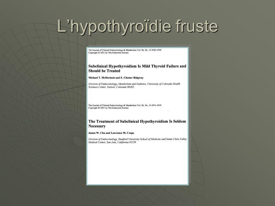 Lhypothyroïdie fruste