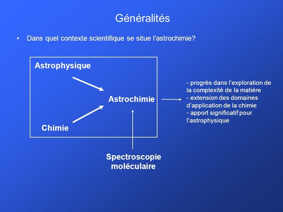 Généralités Dans quel contexte scientifique se situe lastrochimie.