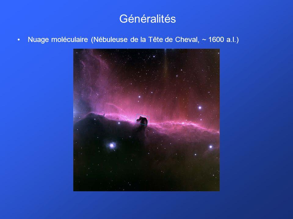 Généralités Nuage moléculaire (Nébuleuse de la Tête de Cheval, ~ 1600 a.l.)