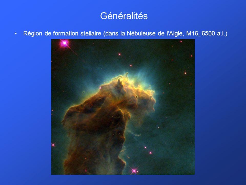 Généralités Région de formation stellaire (dans la Nébuleuse de lAigle, M16, 6500 a.l.)