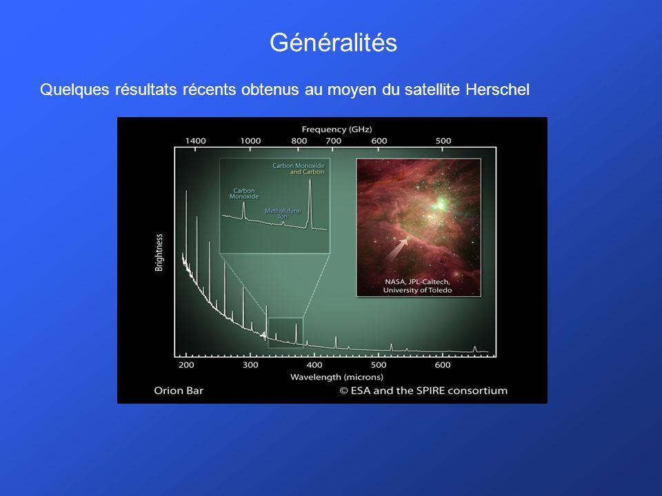 Généralités Quelques résultats récents obtenus au moyen du satellite Herschel