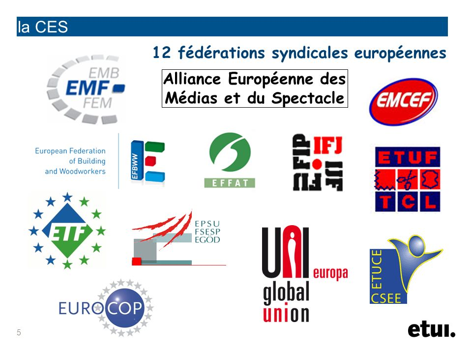 6 la CES autres organisations et groupements dintérêts spécifiques fédération européenne des retraités et des personnes âgées adhère à et coordonne sa politique avec la CES le conseil des cadres européens constitué sous légide de la CES organisation européenne des associations militaires accord de coopération le comité femmes le comité jeunes