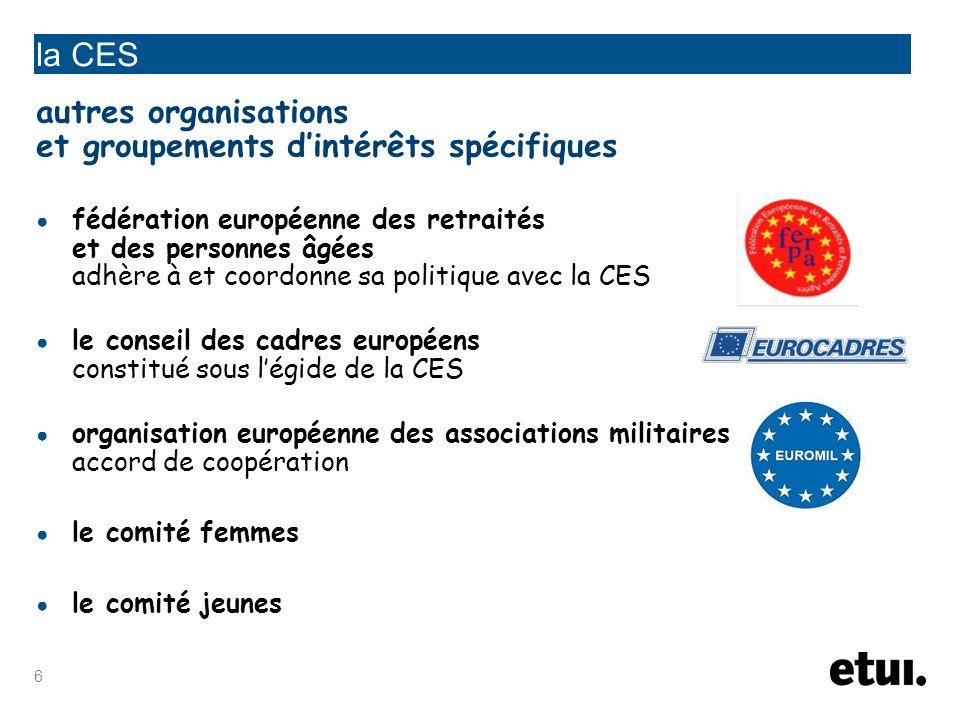 7 la CES les conseils syndicaux interrégionaux