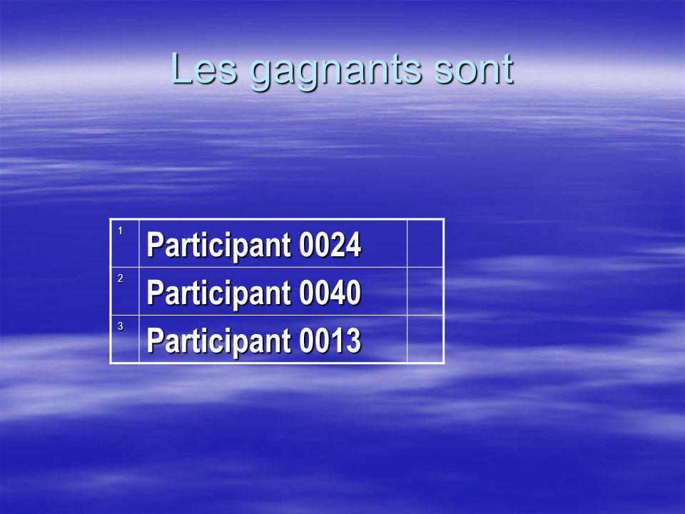 1 Participant 0024 2 Participant 0040 3 Participant 0013