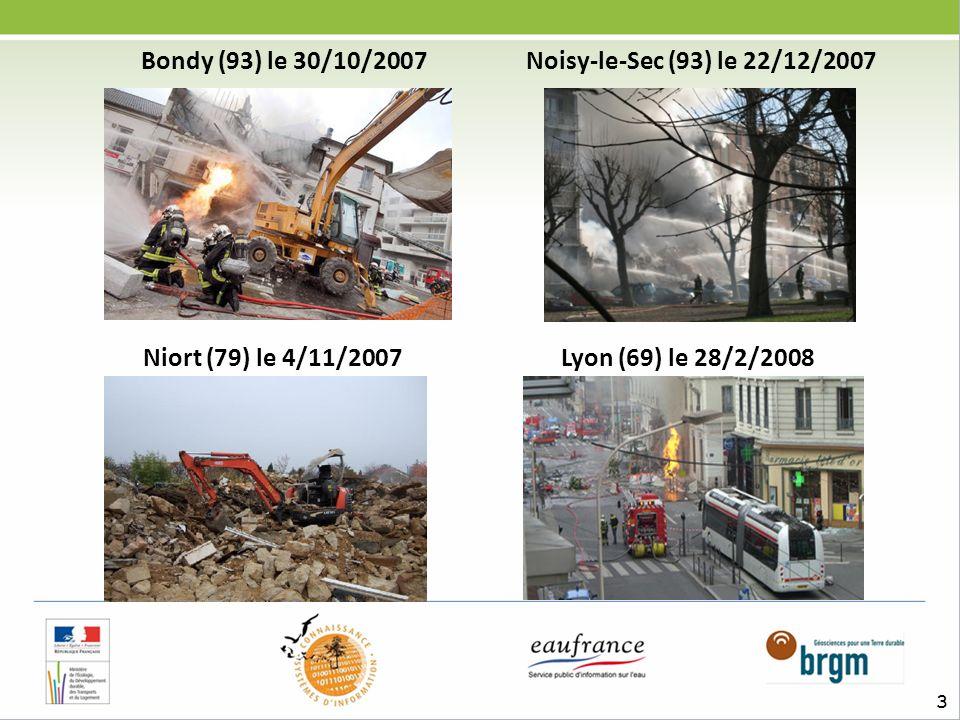 3 Bondy (93) le 30/10/2007 Noisy-le-Sec (93) le 22/12/2007 Niort (79) le 4/11/2007 Lyon (69) le 28/2/2008