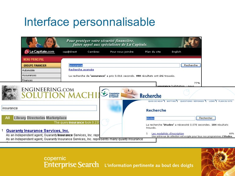 Interface personnalisable