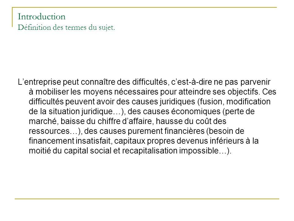 Partie 2.Procédures judiciaires 2.1 Les conditions de validité de louverture des procédures.