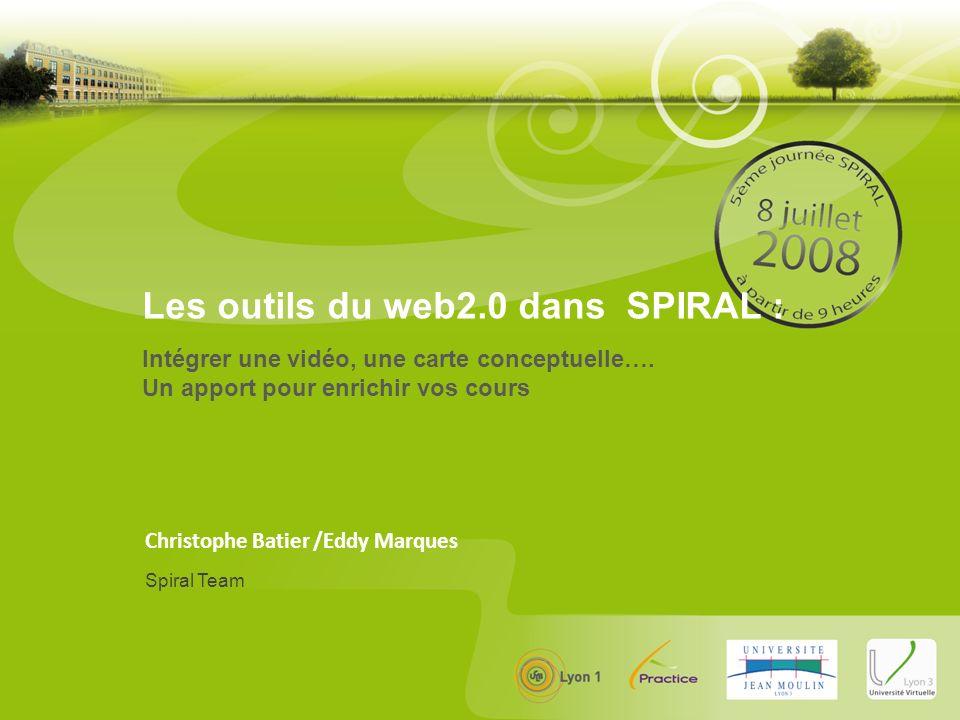 Christophe Batier /Eddy Marques Intégrer une vidéo, une carte conceptuelle….