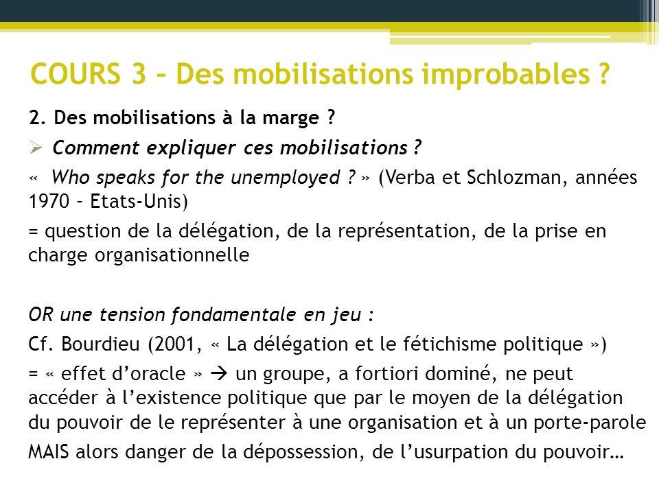 COURS 3 – Des mobilisations improbables .Cf.