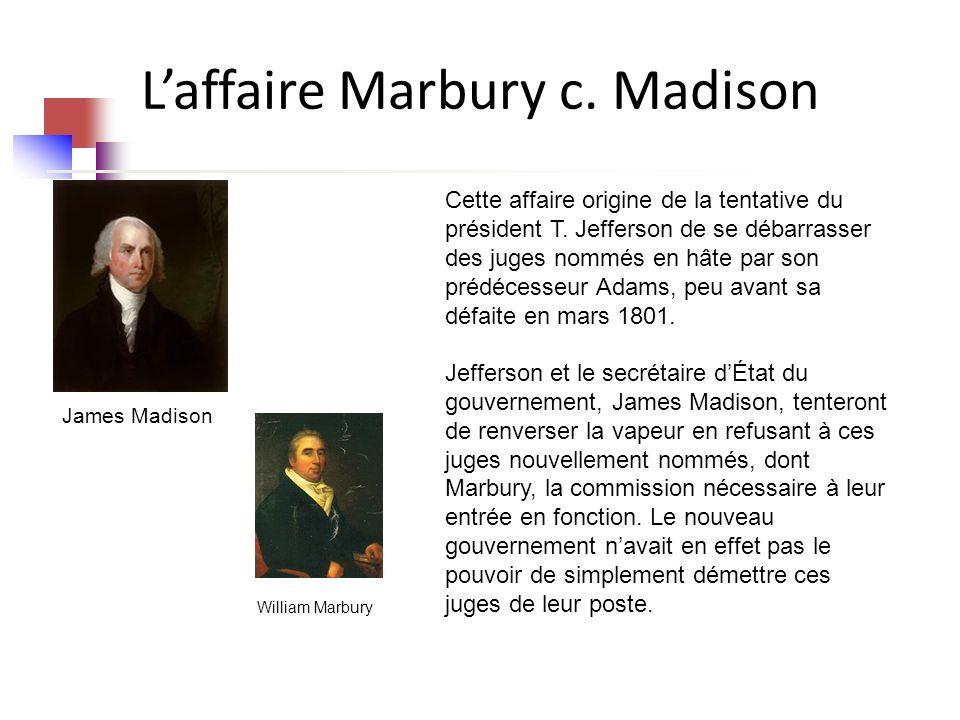 Laffaire Marbury c.