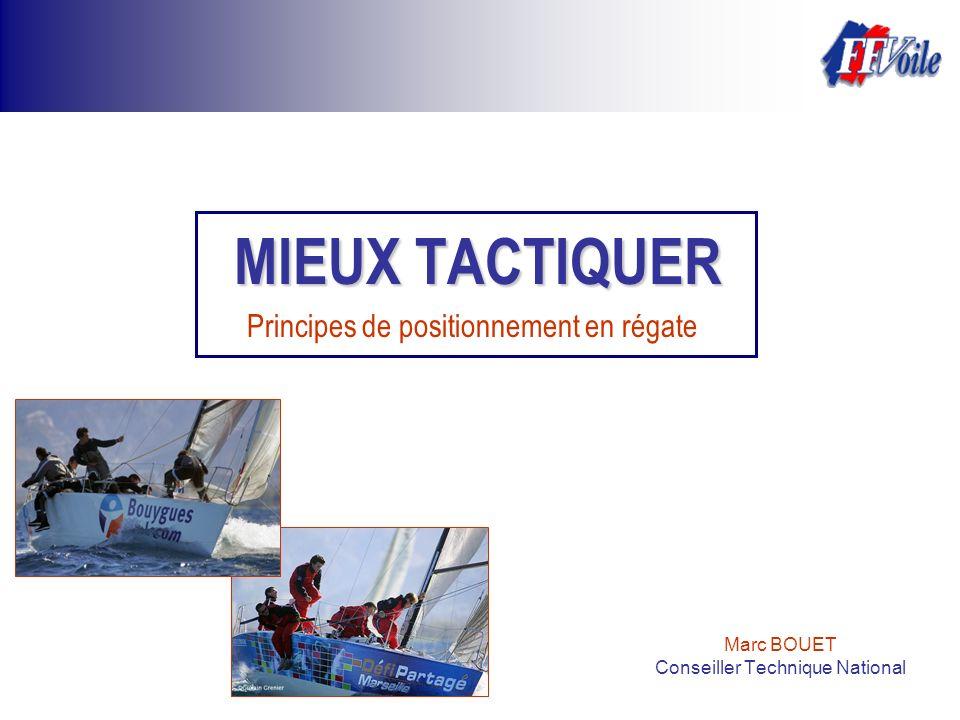 Marc BOUET Conseiller Technique National MIEUX TACTIQUER Principes de positionnement en régate