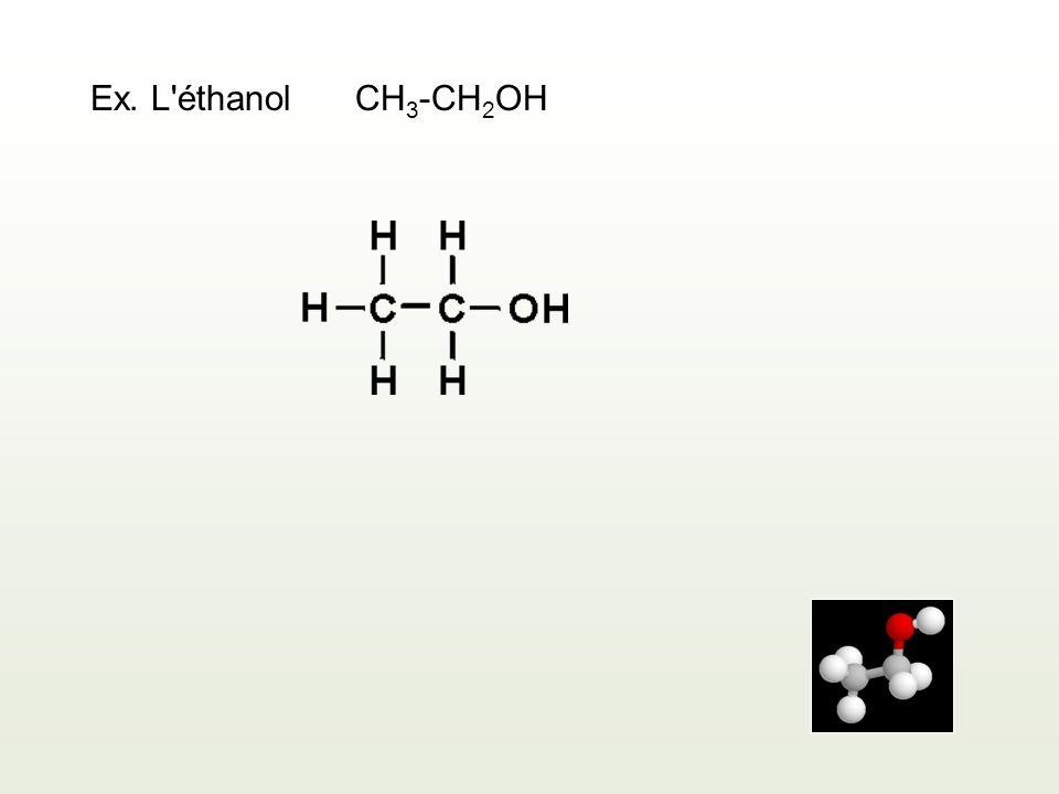Ex. L'éthanolCH 3 -CH 2 OH