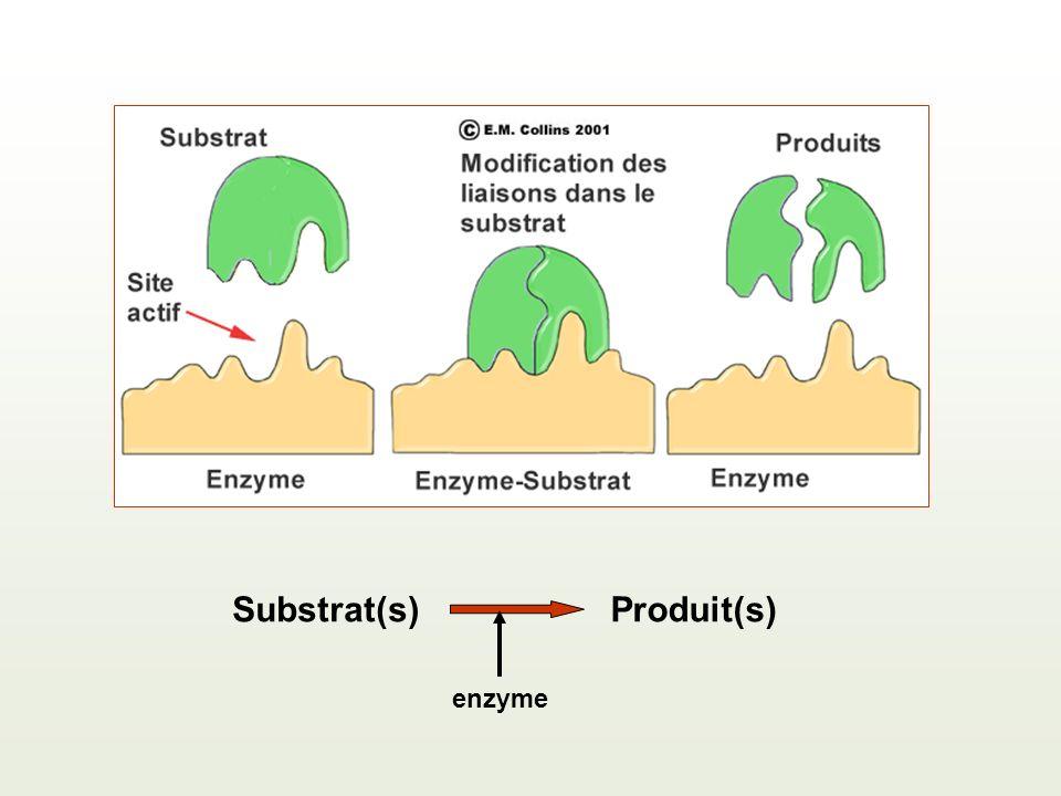 Substrat(s)Produit(s) enzyme