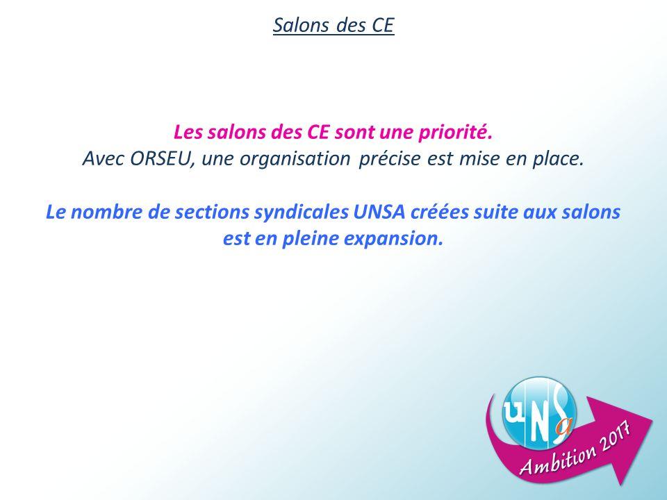 Salons des CE Les salons des CE sont une priorité.