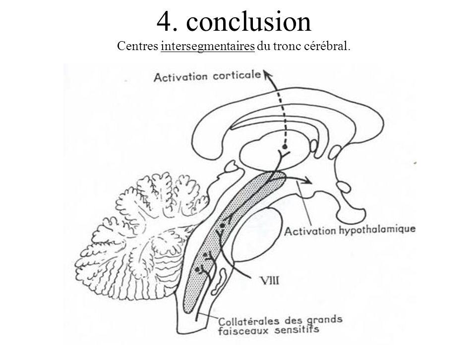 4. conclusion Centres intersegmentaires du tronc cérébral.