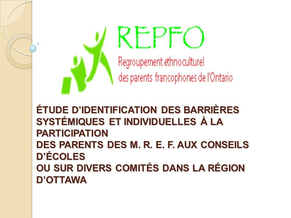 ÉTUDE DIDENTIFICATION DES BARRIÈRES SYSTÉMIQUES ET INDIVIDUELLES À LA PARTICIPATION DES PARENTS DES M.