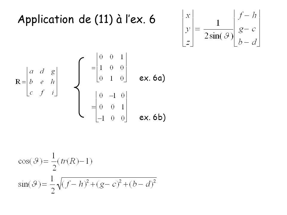 Application de (11) à lex. 6 ex. 6a) ex. 6b)