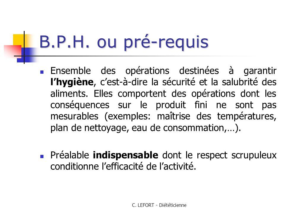 C.LEFORT - Diététicienne B.P.H.
