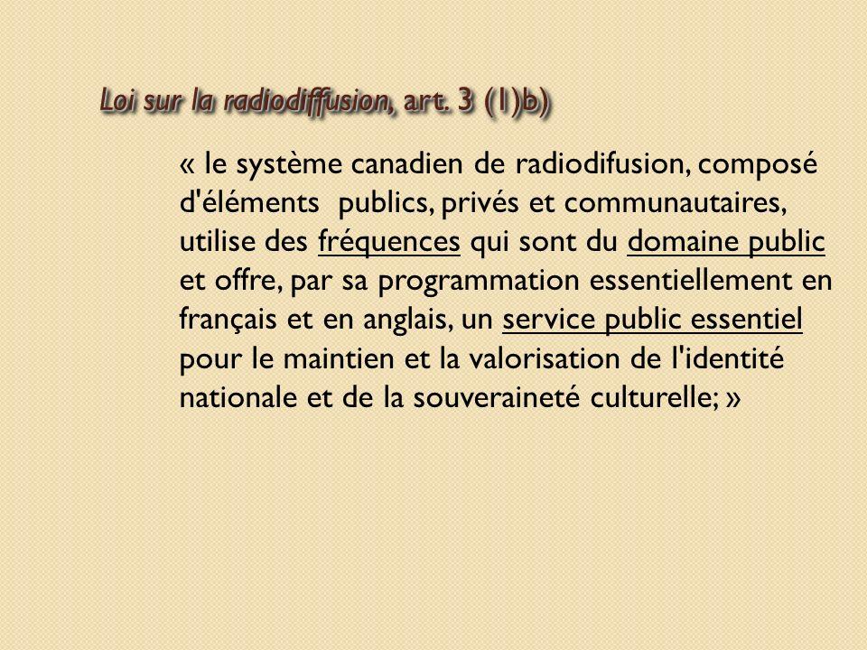 Loi sur la radiodiffusion, art.