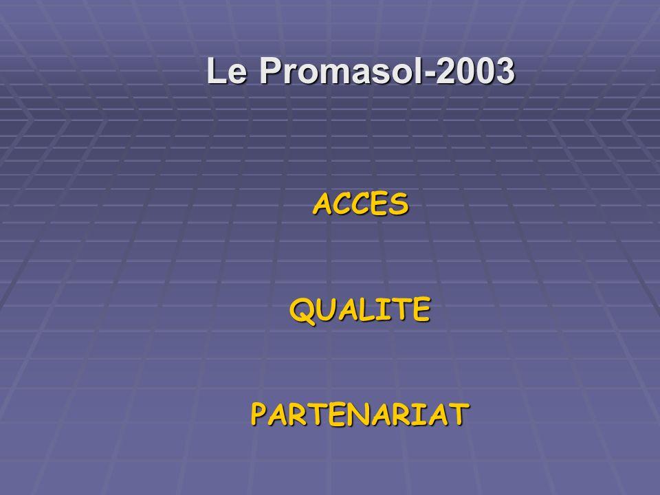 Le Promasol-2003 ACCES QUALITE PARTENARIAT