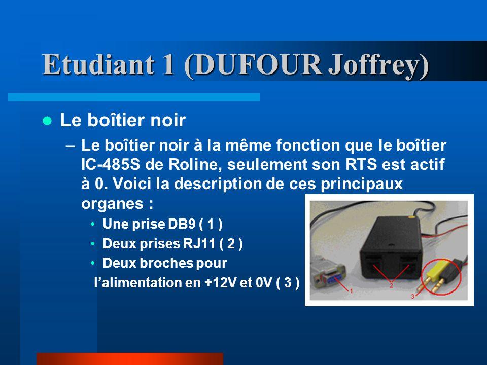 Etudiant 1 (DUFOUR Joffrey) La trame et son format