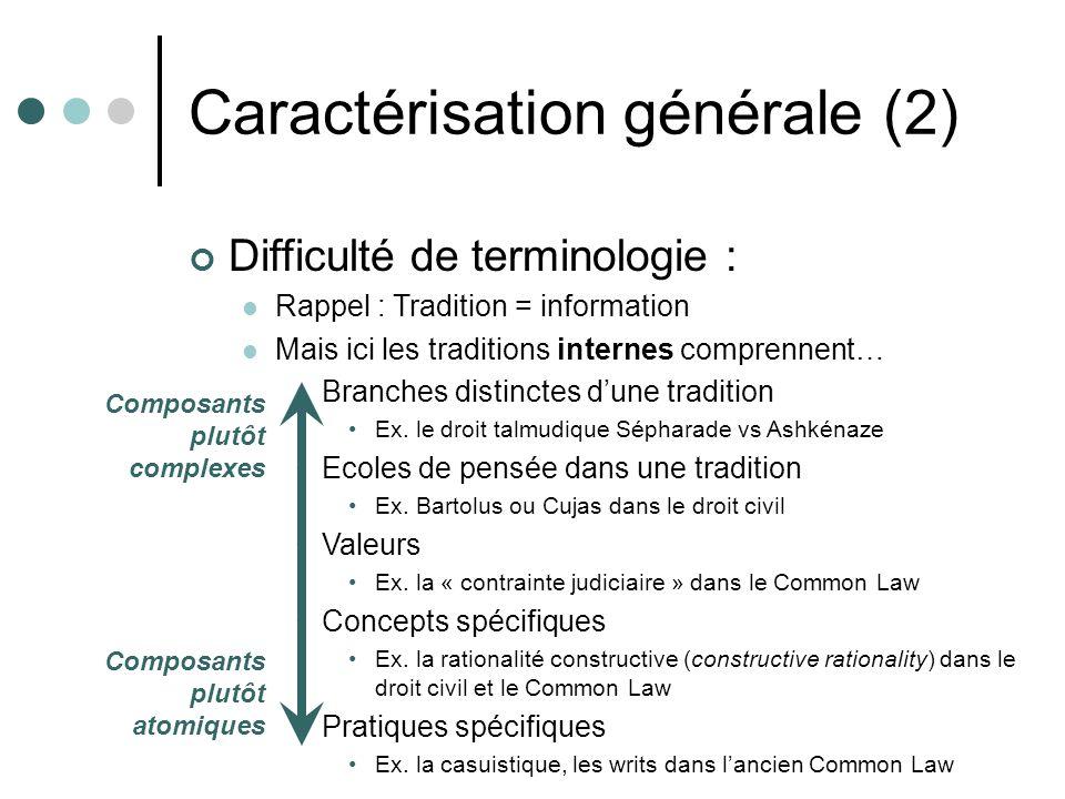 Difficulté de terminologie : Rappel : Tradition = information Mais ici les traditions internes comprennent… Branches distinctes dune tradition Ex. le