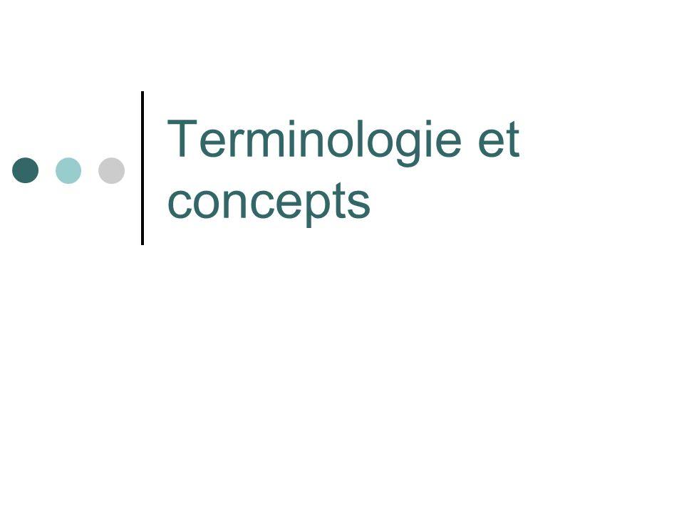 Terminologie et concepts (1) Tradition : Sagit de linformation (Ch.