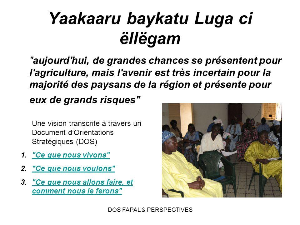 DOS FAPAL & PERSPECTIVES Yaakaaru baykatu Luga ci ëllëgam