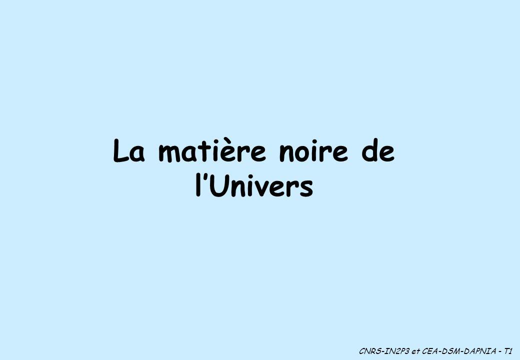 La matière noire de lUnivers CNRS-IN2P3 et CEA-DSM-DAPNIA - T1