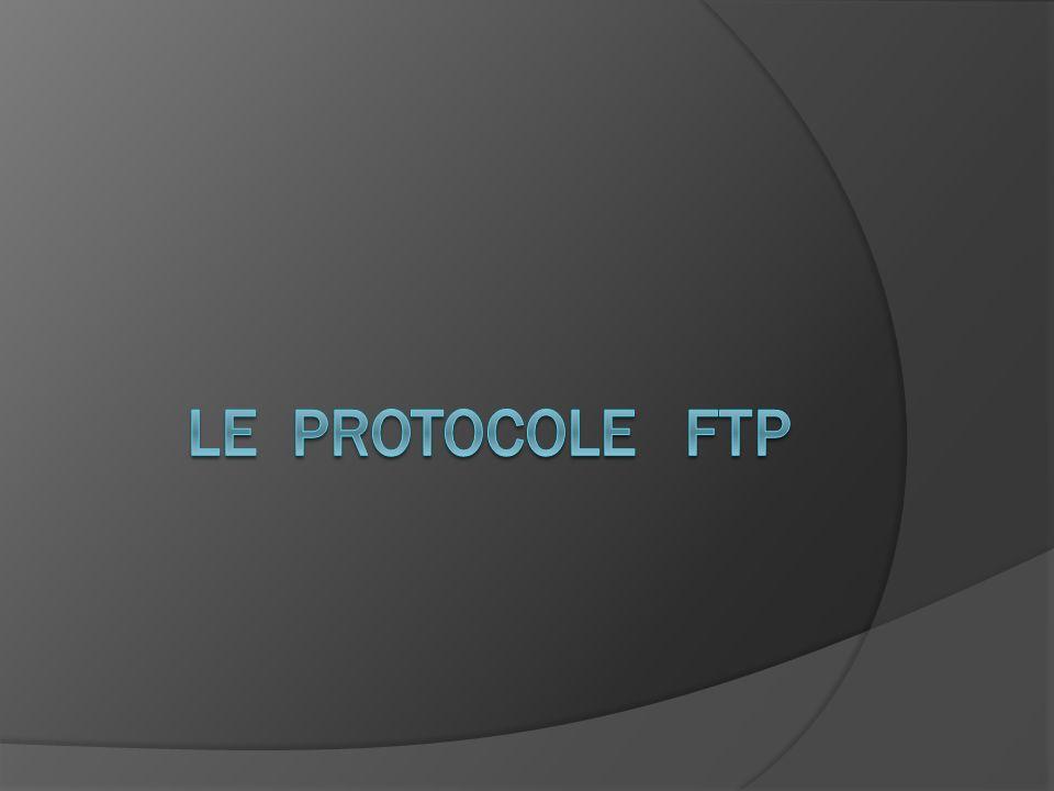 Le modèle FTP Le protocole FTP s inscrit dans un modèle client-serveur, Une machine envoie des ordres (le client) l autre attend des requêtes (le serveur).