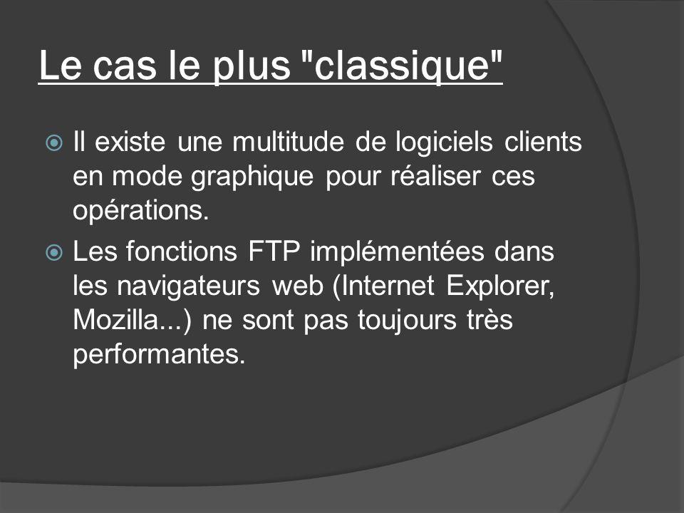 Clients Windows : FileZilla