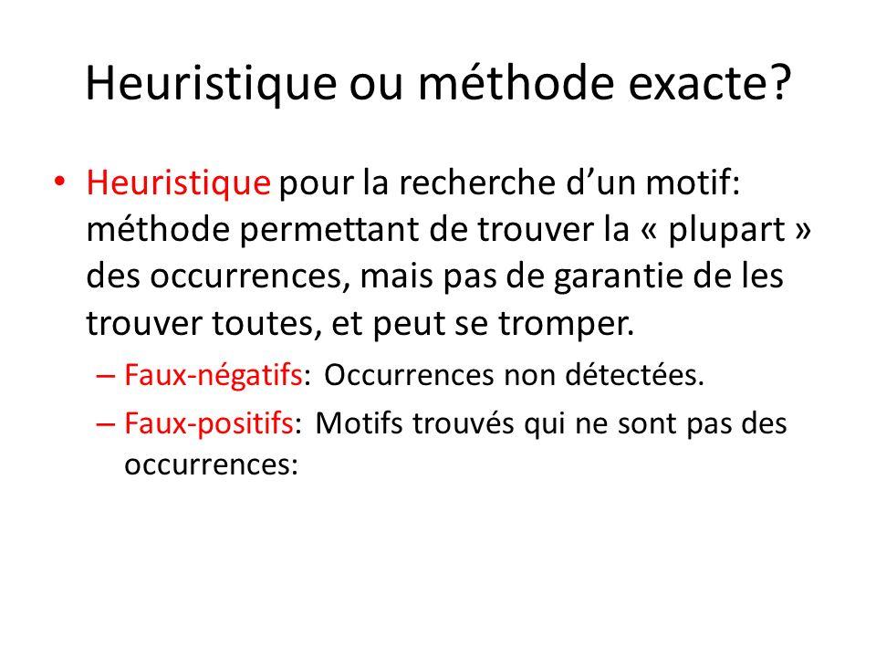 Heuristique ou méthode exacte.