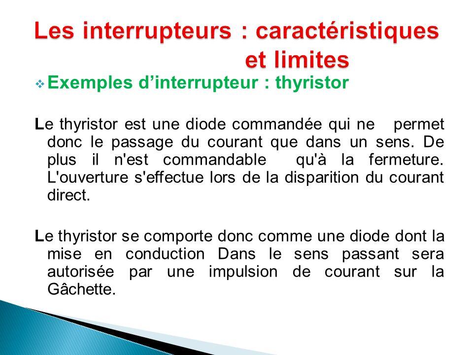 Exemples dinterrupteur : thyristor